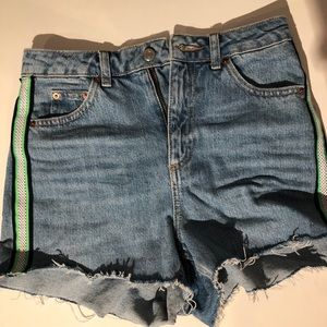 Blue Jean Shorts with stripe